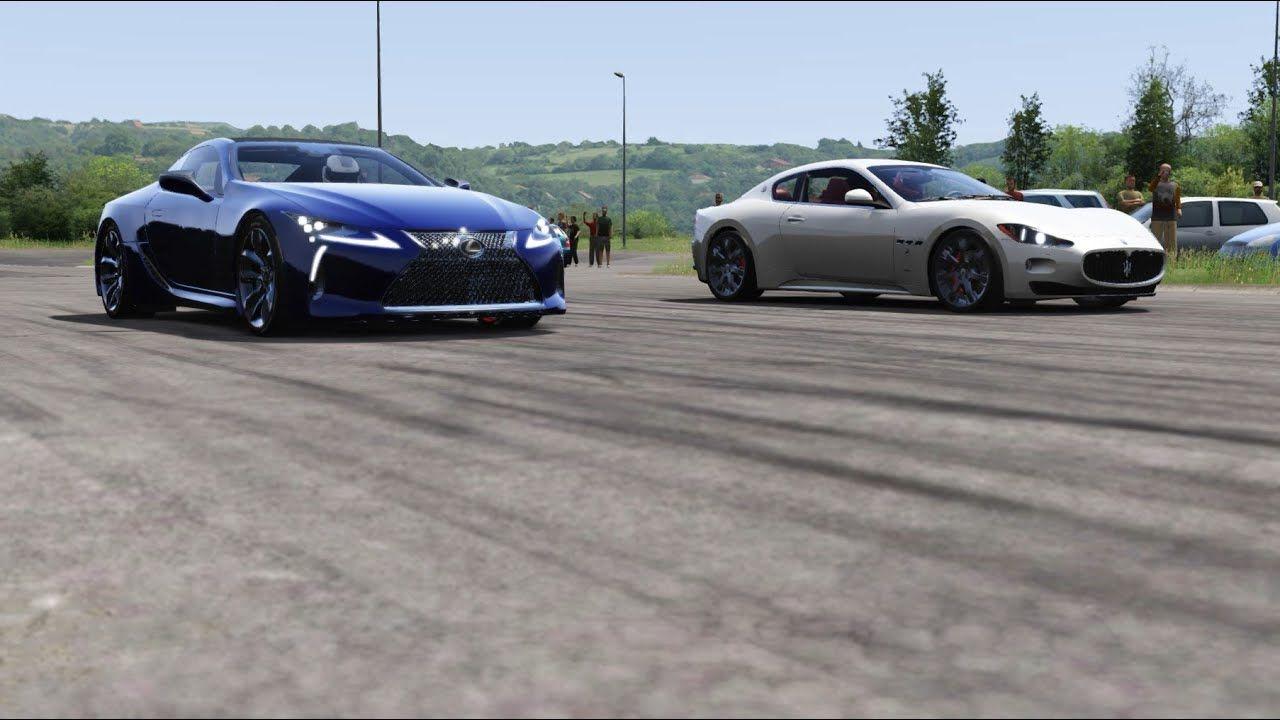 Lexus LC500 vs Maserati Granturismo MC at Miseluk Drag 1