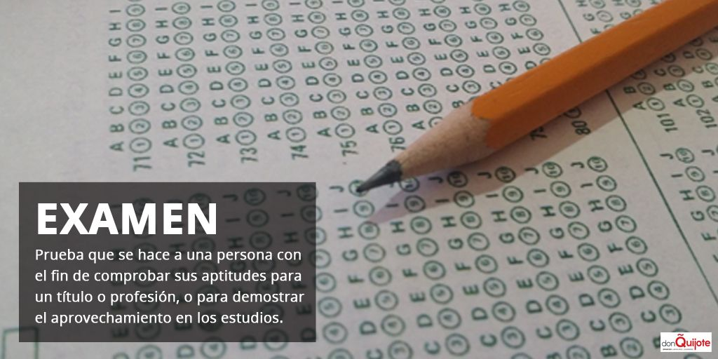 Spanish Word of the Day: EXAMEN #Spanish #Learn #Spanish  http://www.donquijote.org/spanish-word-of-the-day/word/examen