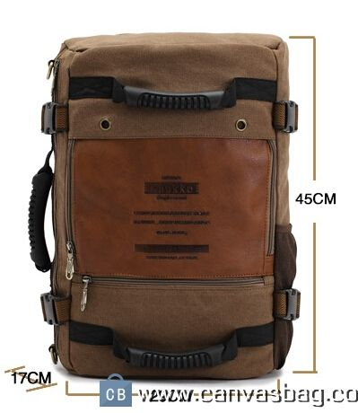 Convertible Backpack Shoulder Bag Convertible Travel Bag Material   Canvas 8ca9182660