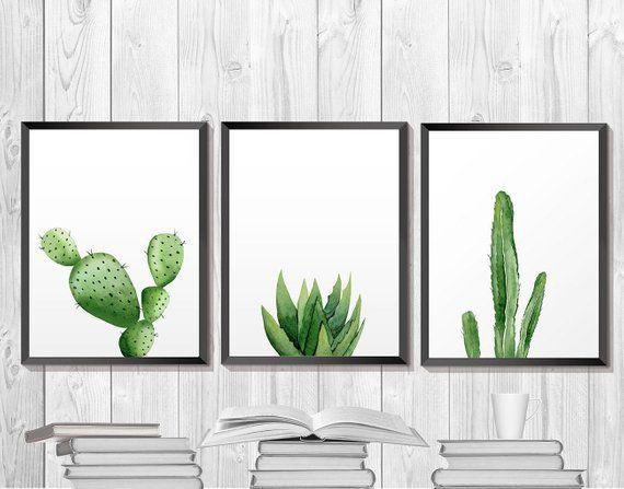 Kaktus Druck, druckbare Aquarell Kunst, Kakteen botanische Kunstwerk, südwestliche Pflanze Poster, Ökologie Wohnkultur, Küche Wand Kunst Poster