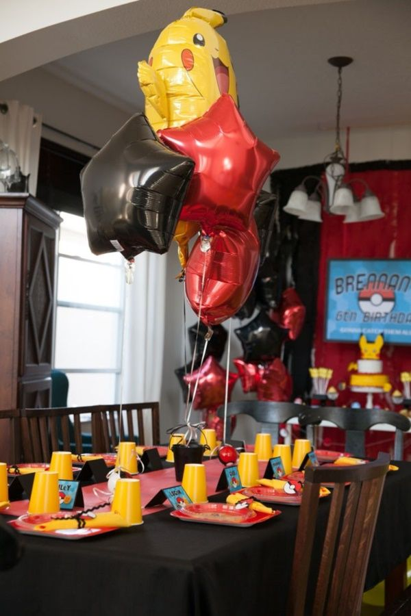 41 Catchy Pokemon Birthday Party Decoration Ideas | For my fat boy