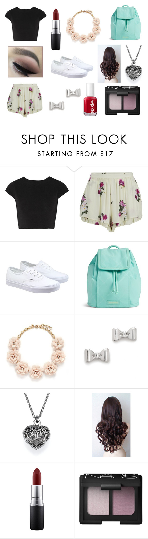 (Insert witty comment here) by rojoubdalia on Polyvore featuring Alice + Olivia, MINKPINK, Vans, Vera Bradley, J.Crew, Marc by Marc Jacobs, NARS Cosmetics, MAC Cosmetics and Essie