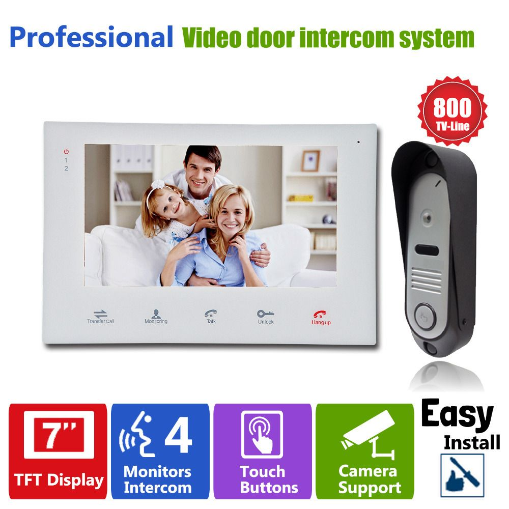 "$171.12 (Buy here: http://appdeal.ru/d0k3 ) YSECU  Video Door Phone Door Bell Intercom  7""TFT indoor Monitor+1 Outdoor Doorbell Camera Home Entry Security Systems for just $171.12"