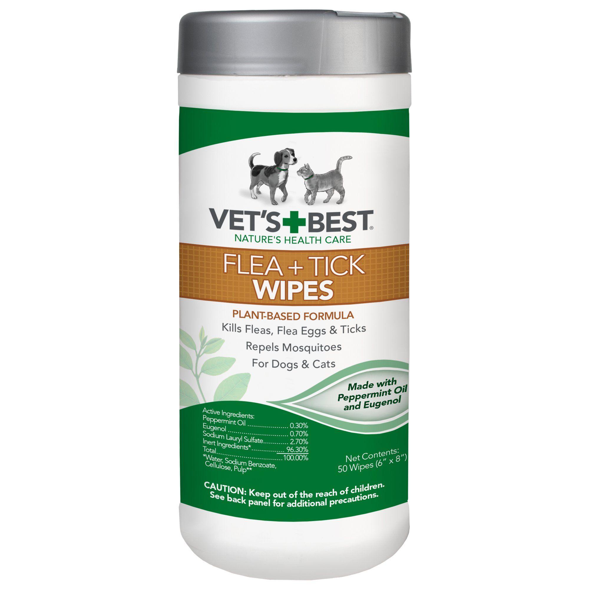 Vet's Best Flea + Tick Wipes, 50 ct Tick repellent for