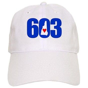 ball cap, red white and blue, new hampshire 603