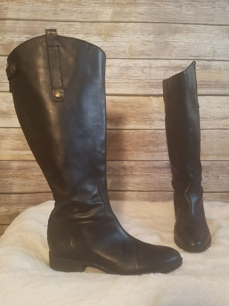 148db5f726c Sam Edelman Riding Boots Wide Calf Leg Tall Black Leather Penny 2 - Size US  7.5 | Clothing, Shoes & Accessories, Women's Shoes, Boots | eBay!