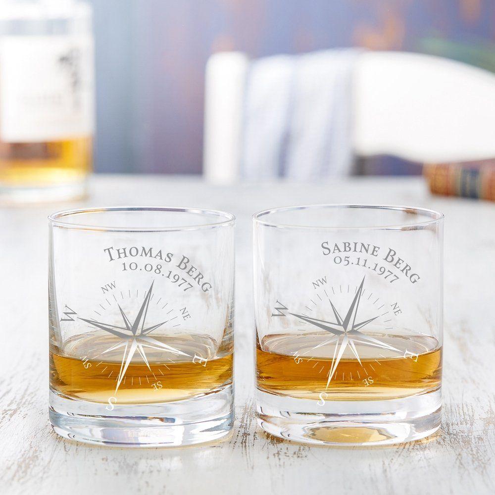 Whiskykaraffe im Globus Design Weltkugel Dekanter aus Glas mit Segelschiff Dekor