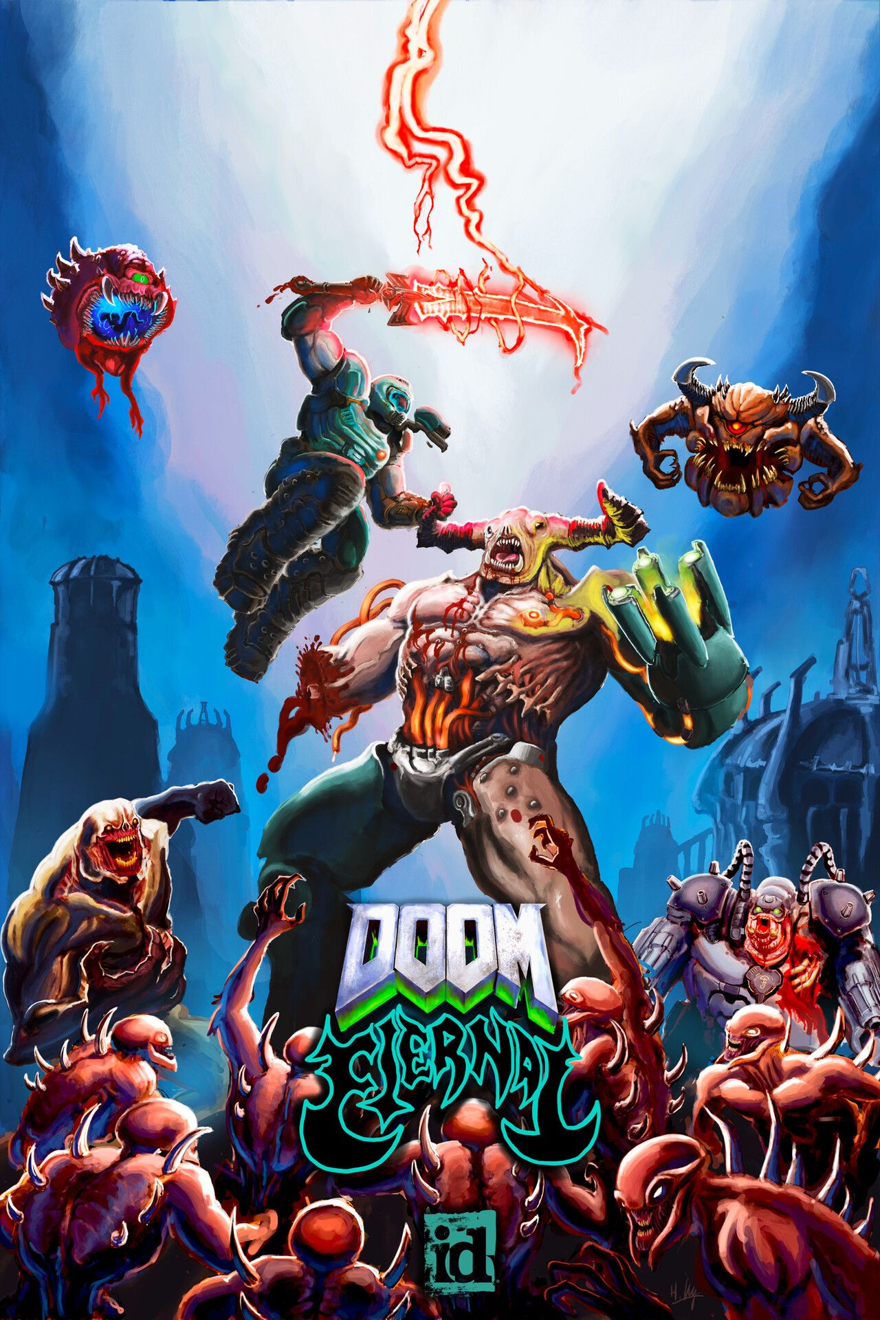 Doom Eternal Fan Art In 2020 Doom 1993 Doom Slayer Meme
