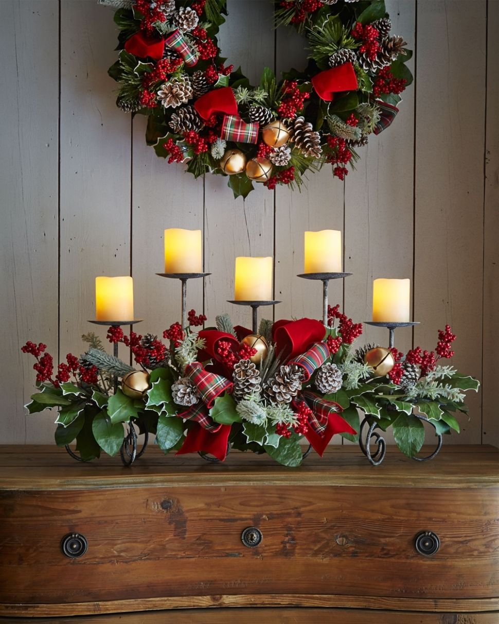 Decorationchristmas vanity table decorations with wooden vanity