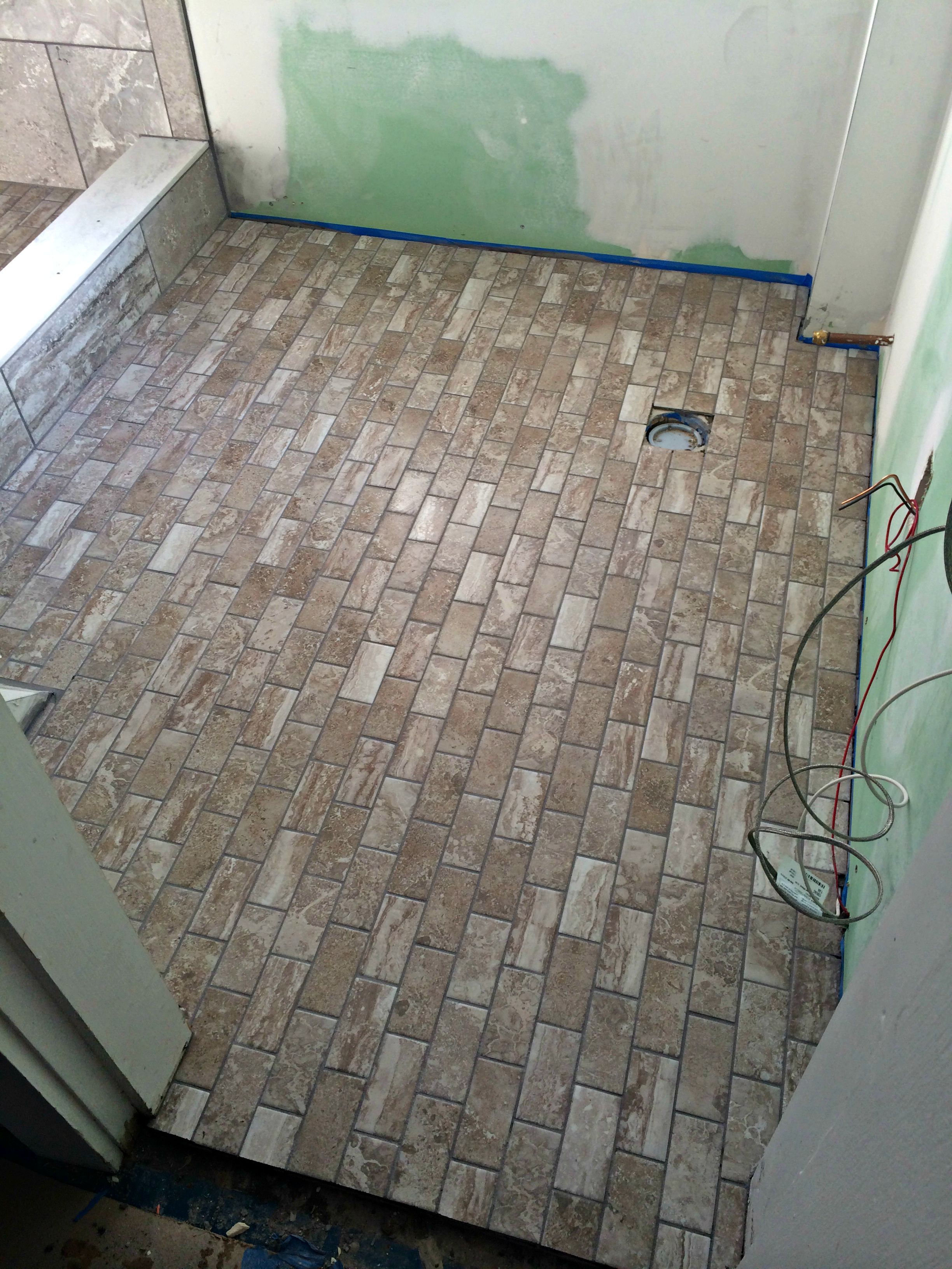 Floor daltile exquisite silver stone in 2x4 installed by for Exquisite stone
