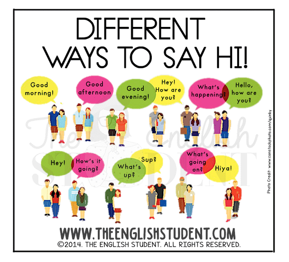Theenglishstudent the english student saying hi esl theenglishstudent the english student saying hi esl conversation formal greetings in english learn english esl slang teaching manners m4hsunfo