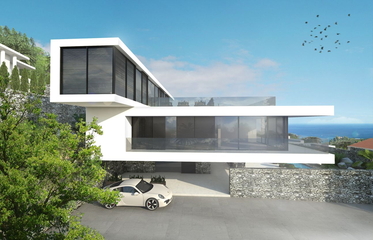 Modern luxury beachfront villa in spain by ng architects www ngarchitects eu