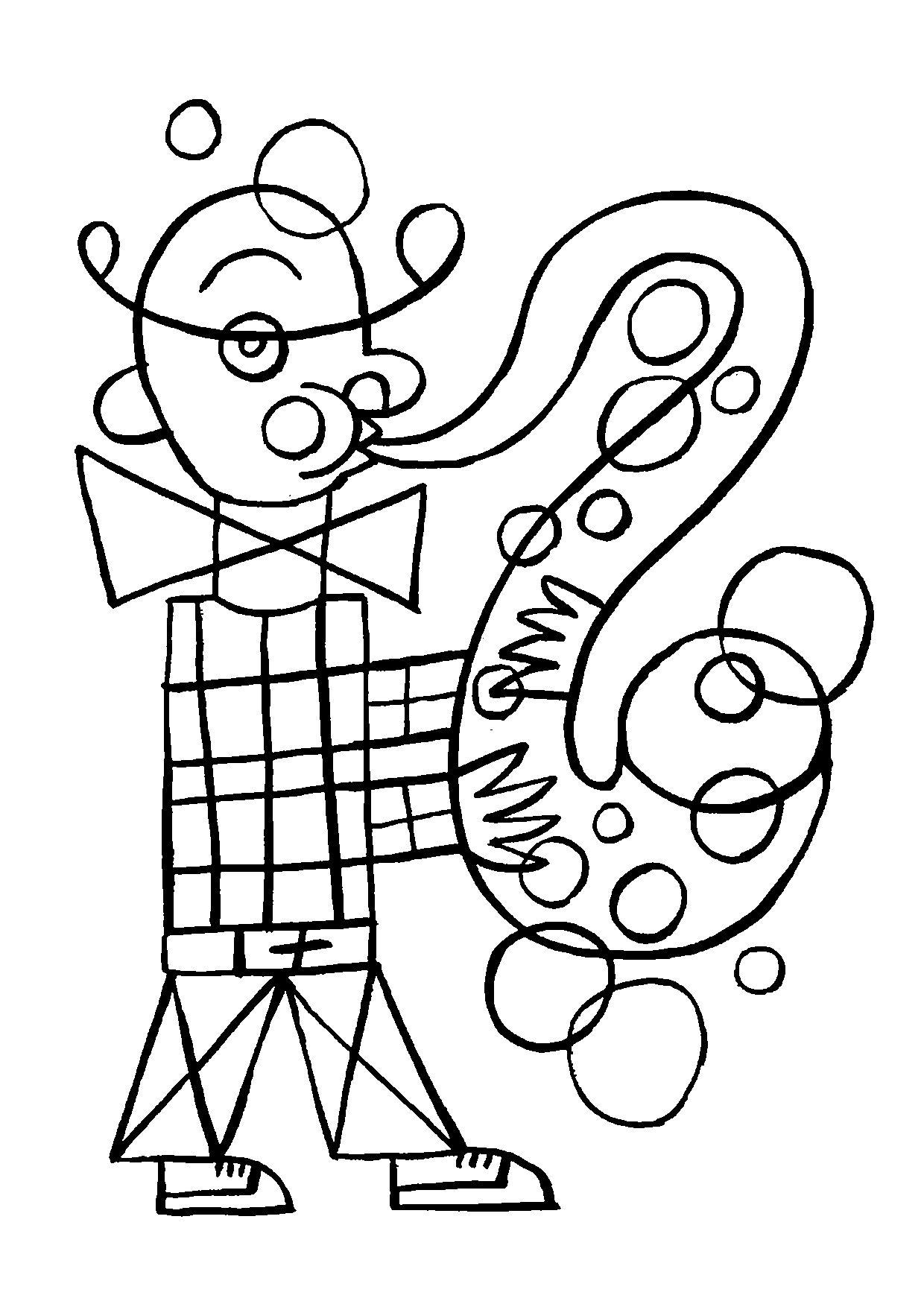 Coloriage Musique Saxophone C Frederic Sochard Saxophone