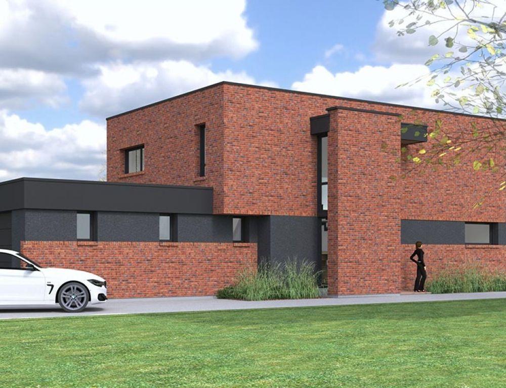 Maison Cubique En Briques Realisee Dans Le Nord Par