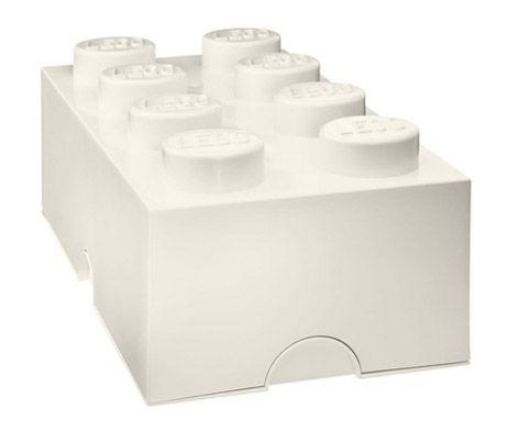 Lego storage brick 8 - Hvid | hos Plakatgalleri.dk