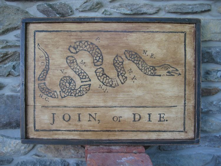 Join Or Die Ben Franklin Revolution Snake Walkers Colonial