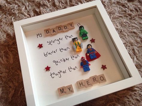 My Daddy Is My Hero Marvel Superhero Fathers Day Gift Lego