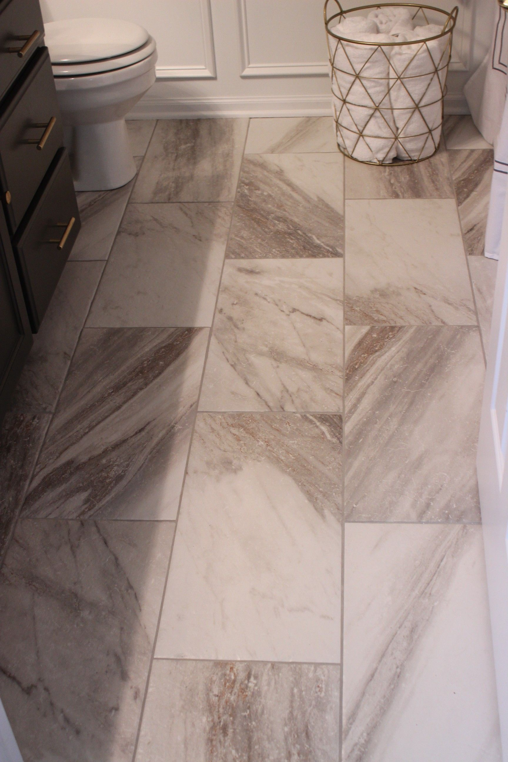 Perfect EBu0027s Bathroom Floor Sovereign Stone Pearl Porcelain Tile In 12 X 24  At Lowes. Part 13