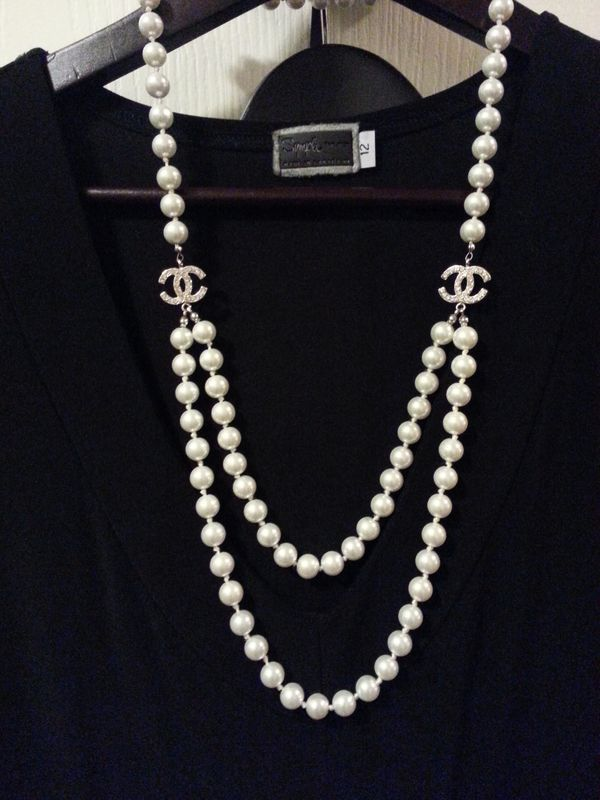 395a257f9ca6 Chanel   jewelery   Pinterest   Bijoux, Collier and Collier perle