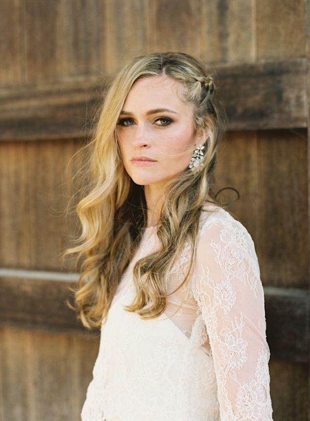novia pelo suelto recogido boda melena bride hair long blog
