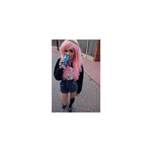 Scene,Hipster,Emo,Goth and Dye Dolls! ❤ liked on Polyvore featuring hair