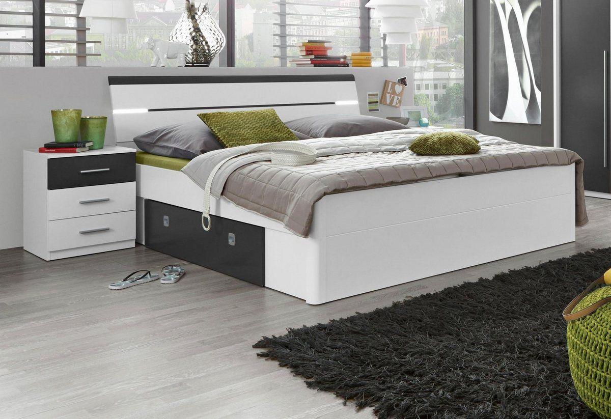 Bett, inkl. 2 Nachttische und 2 Schubkästen kaufen Bett