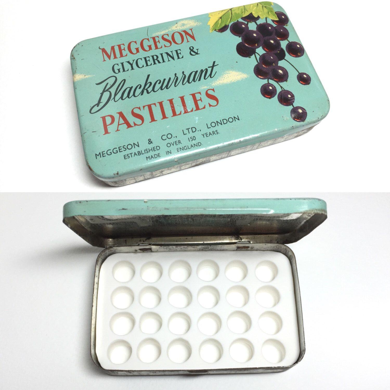 Vintage Meggeson Pastilles Tin Custom Watercolor Palette 24