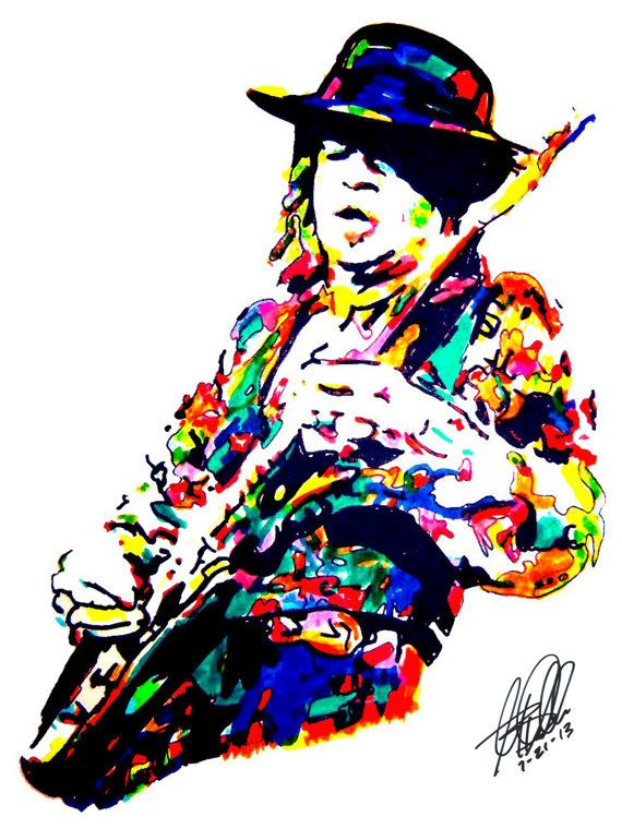 Stevie Ray Vaughan Poster From Original Dwg 18 Quot X 24 Quot Signed Dated By Artist W Coa 2 Blues Music Poster Stevie Ray Vaughn Stevie Ray