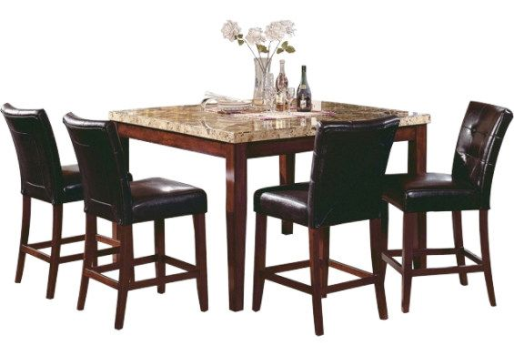 Montibello Counter Height Formal 5Piece Dining Package  Accent Pleasing Dining Room Accent Pieces Review