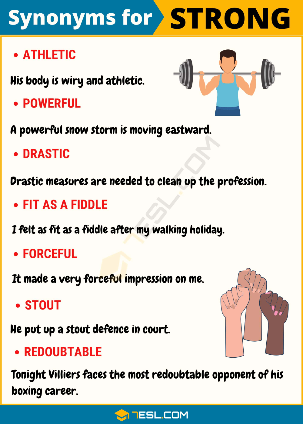 STRONG Synonym: List of 32 Synonyms for Strong with Examples