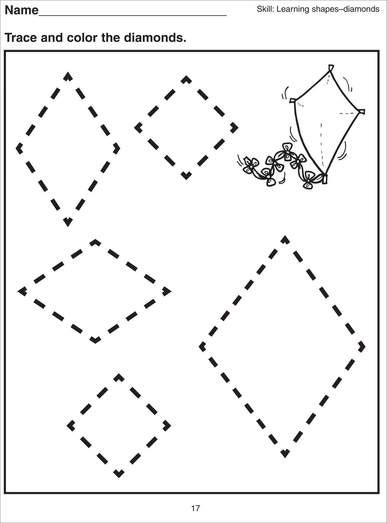 8 Kindergarten Worksheet Diamonds