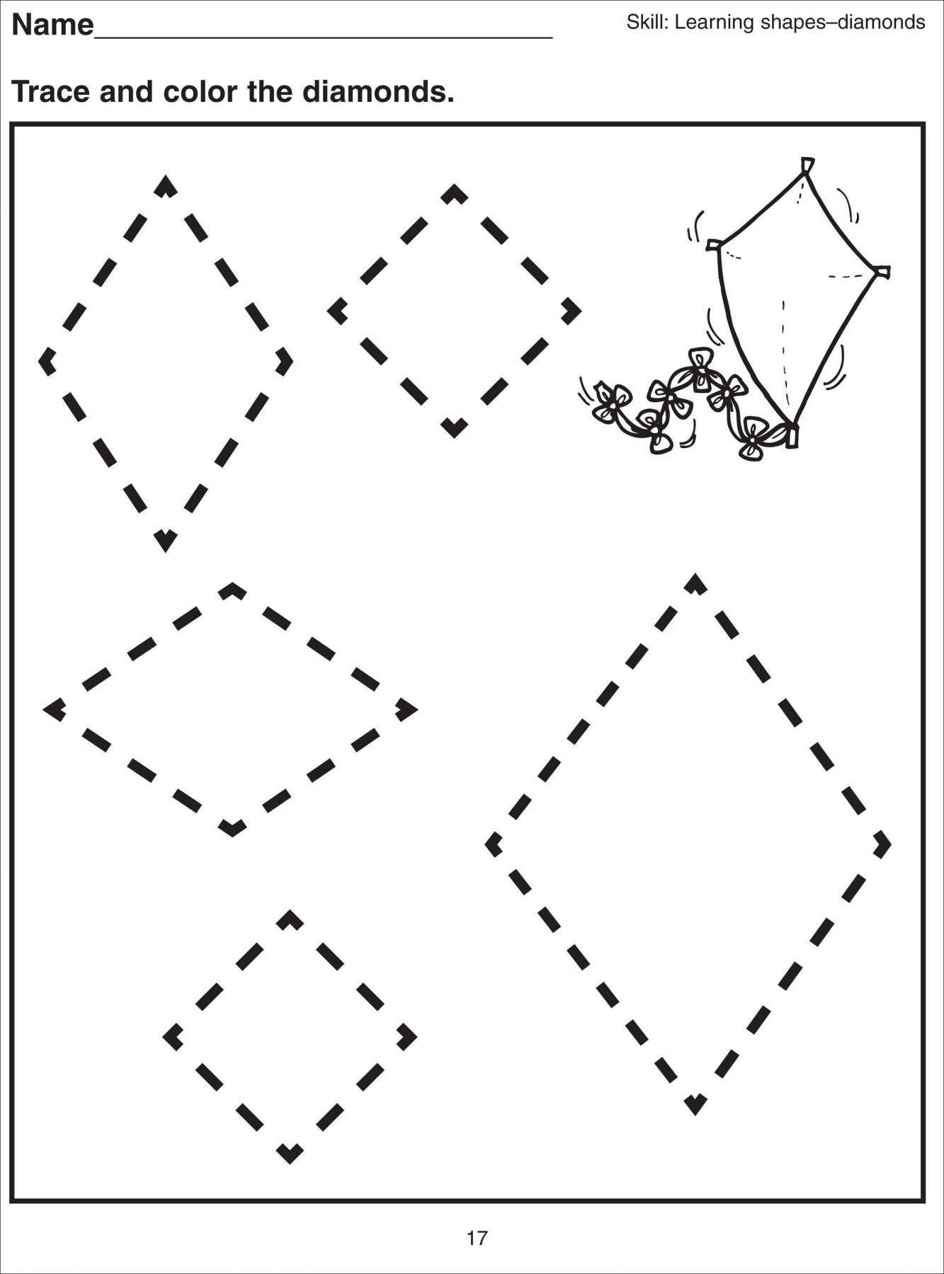 8 Kindergarten Worksheet Diamonds