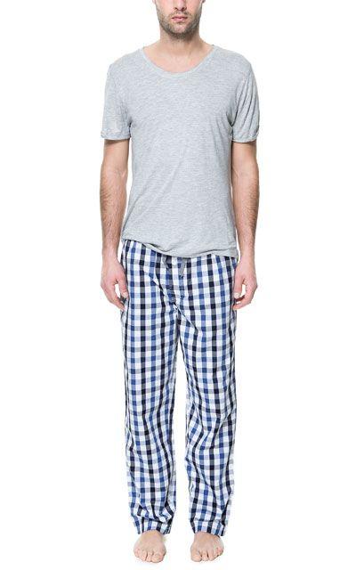 pantalon pyjama homme zara