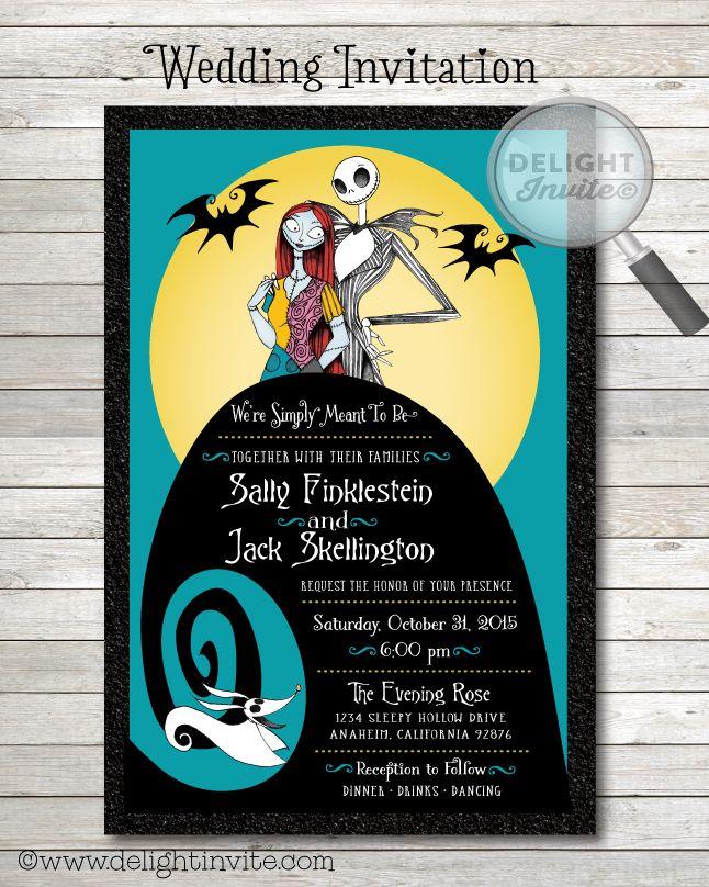 Nightmare Before Christmas Wedding Invitations | someday | Pinterest ...