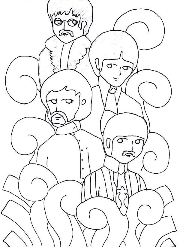 Perfecto Beatles Para Colorear Cresta - Dibujos Para Colorear En ...