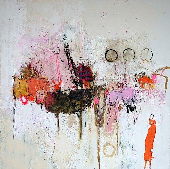 Ou J Ai Laisse Mon Ame De Nadine Bourgne Les Arts Peinture Abstraite Abstrait