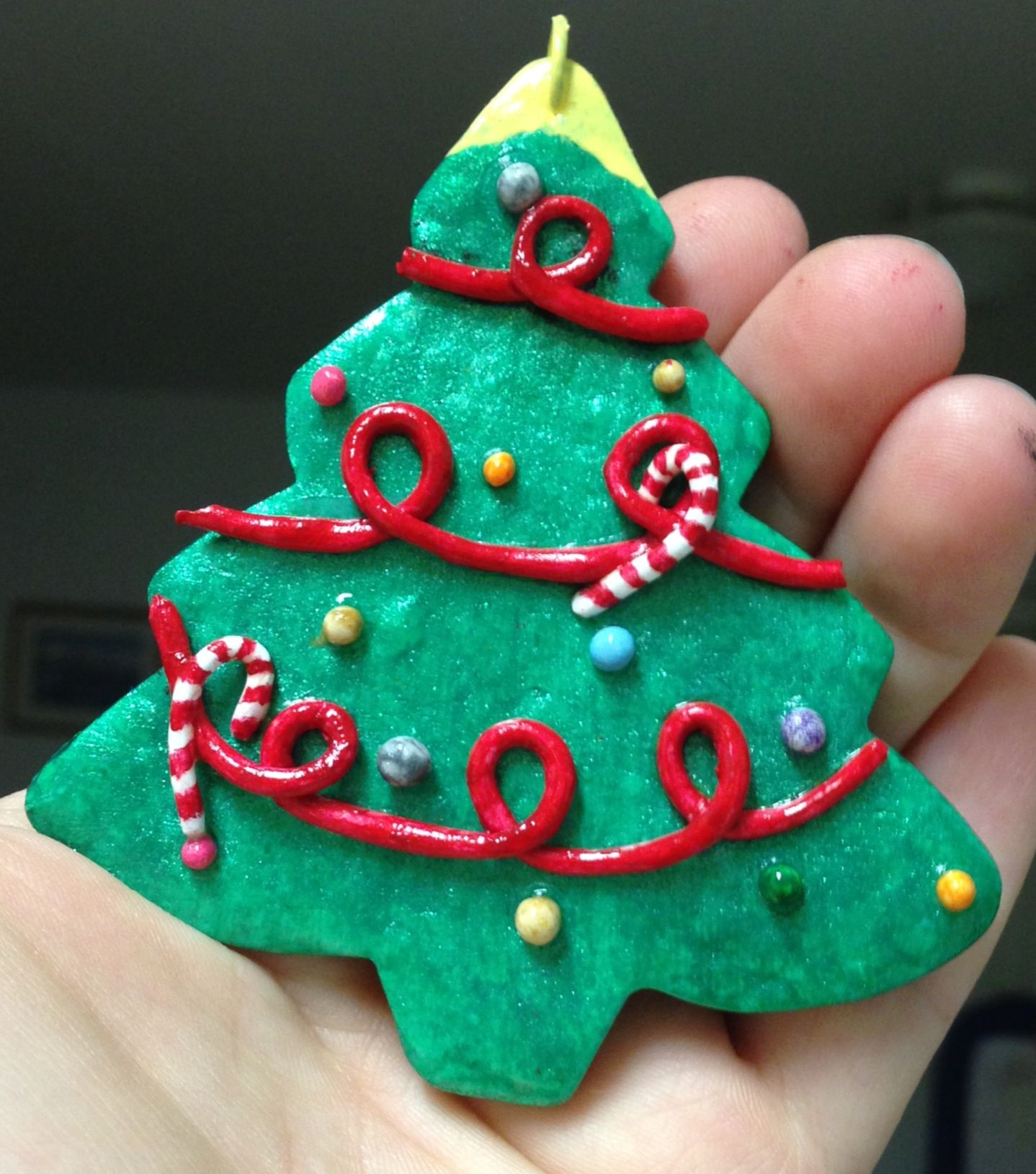 Fun To Make Homemade Christmas Ornaments Made With Oven Bake Clay Acrylic Paint And Ar Clay Christmas Decorations Easy Christmas Gifts Polymer Clay Christmas
