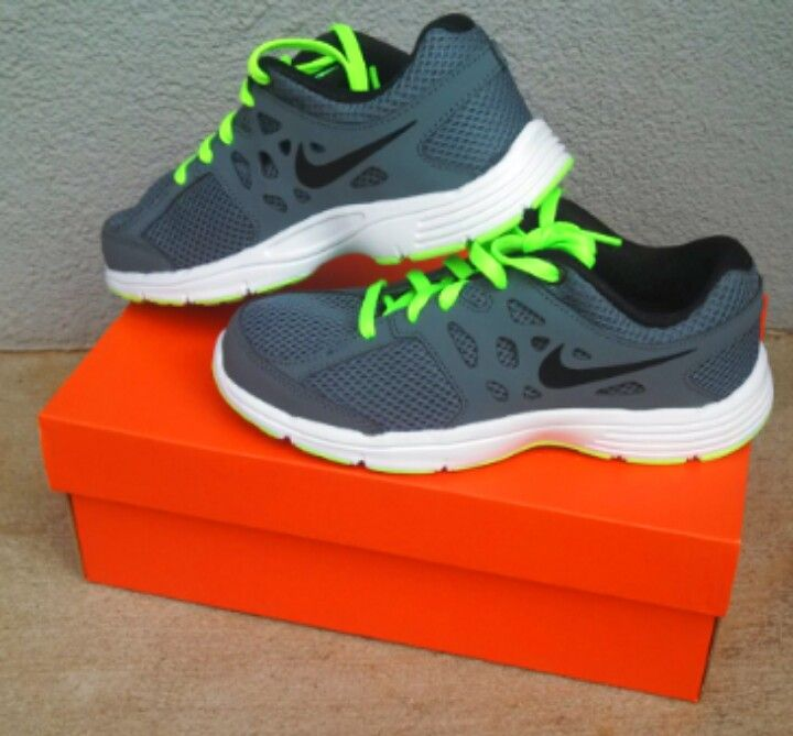 Boys Nike shoes. Love the neon green. | Shoe's | Nike ...