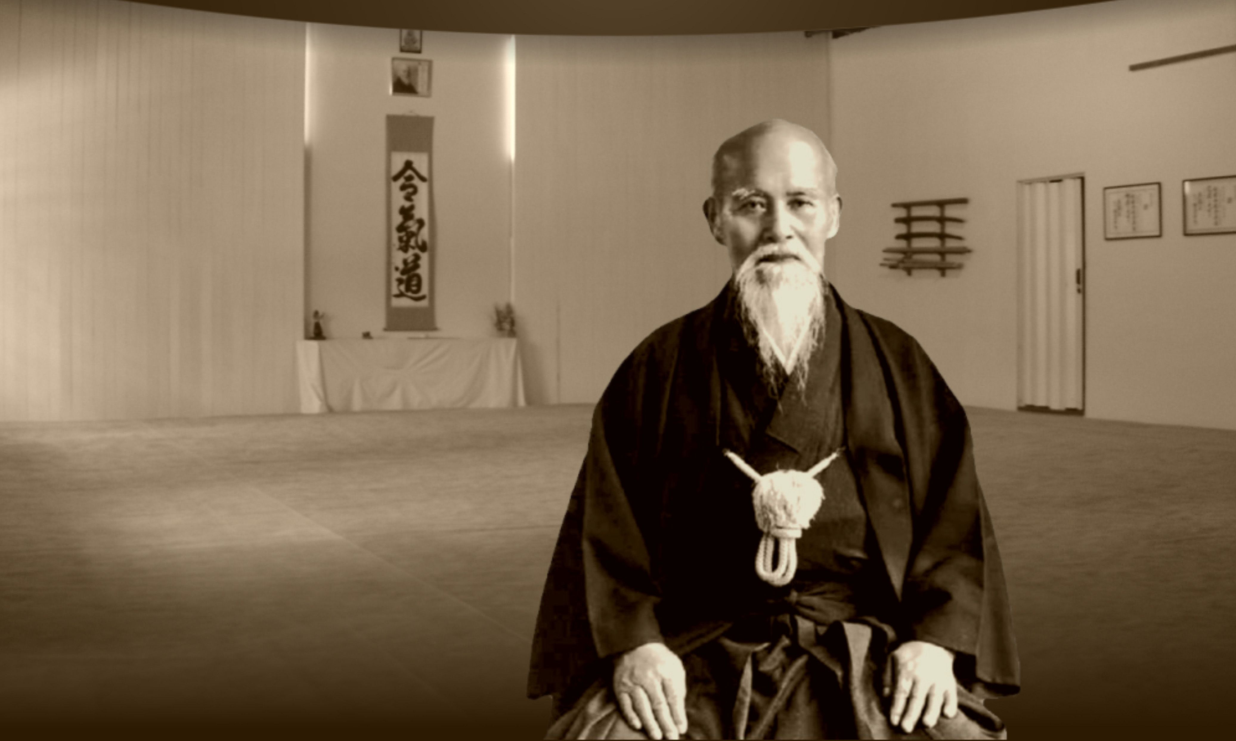 Morihei Ueshiba Sensei, founder of the Way of Harmony, Aikido.