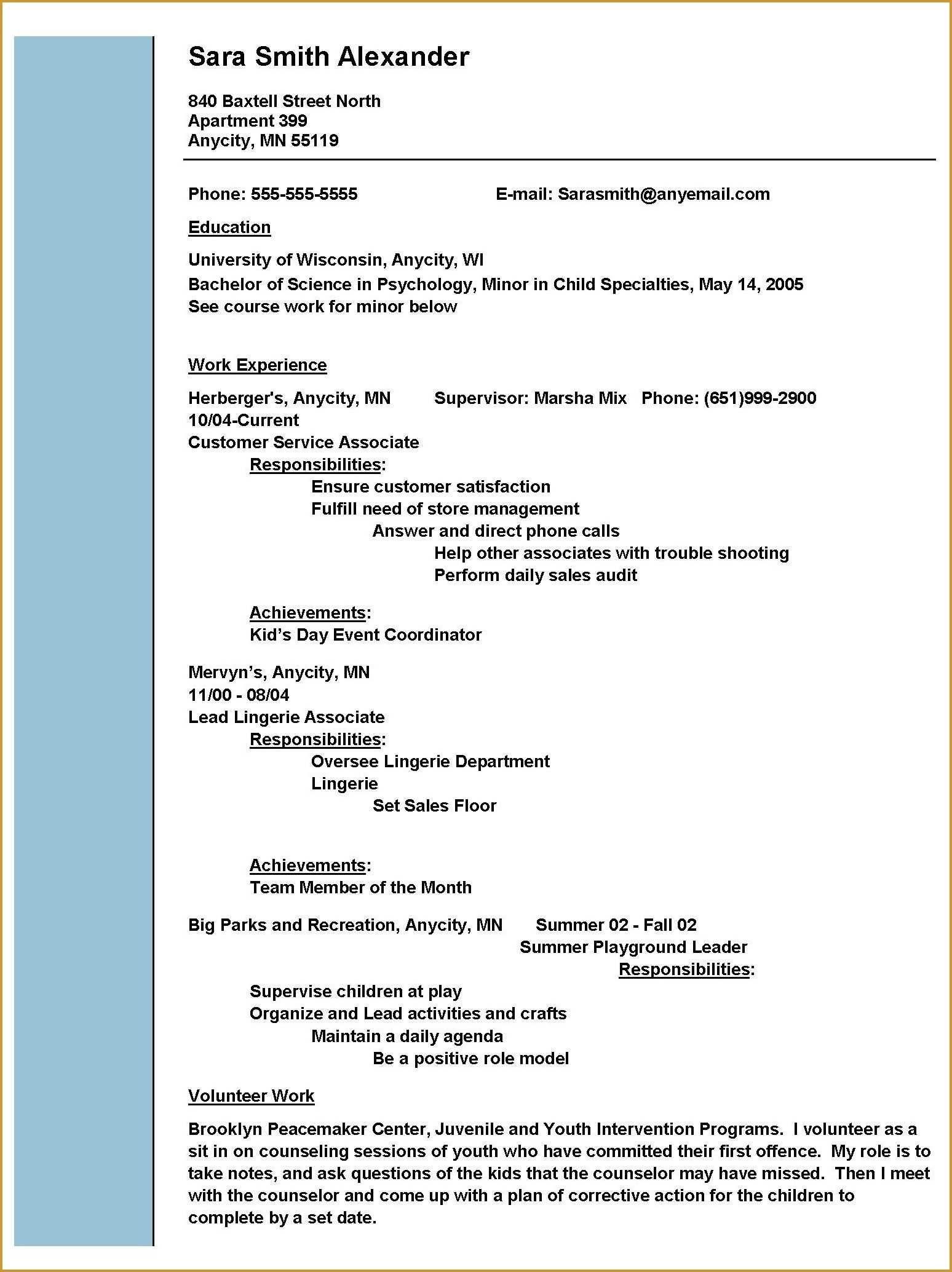 35 Excellent Child Care Provider Skills For Resume We I82133 Resume Samples Resume Skills Resume Examples Sample Resume