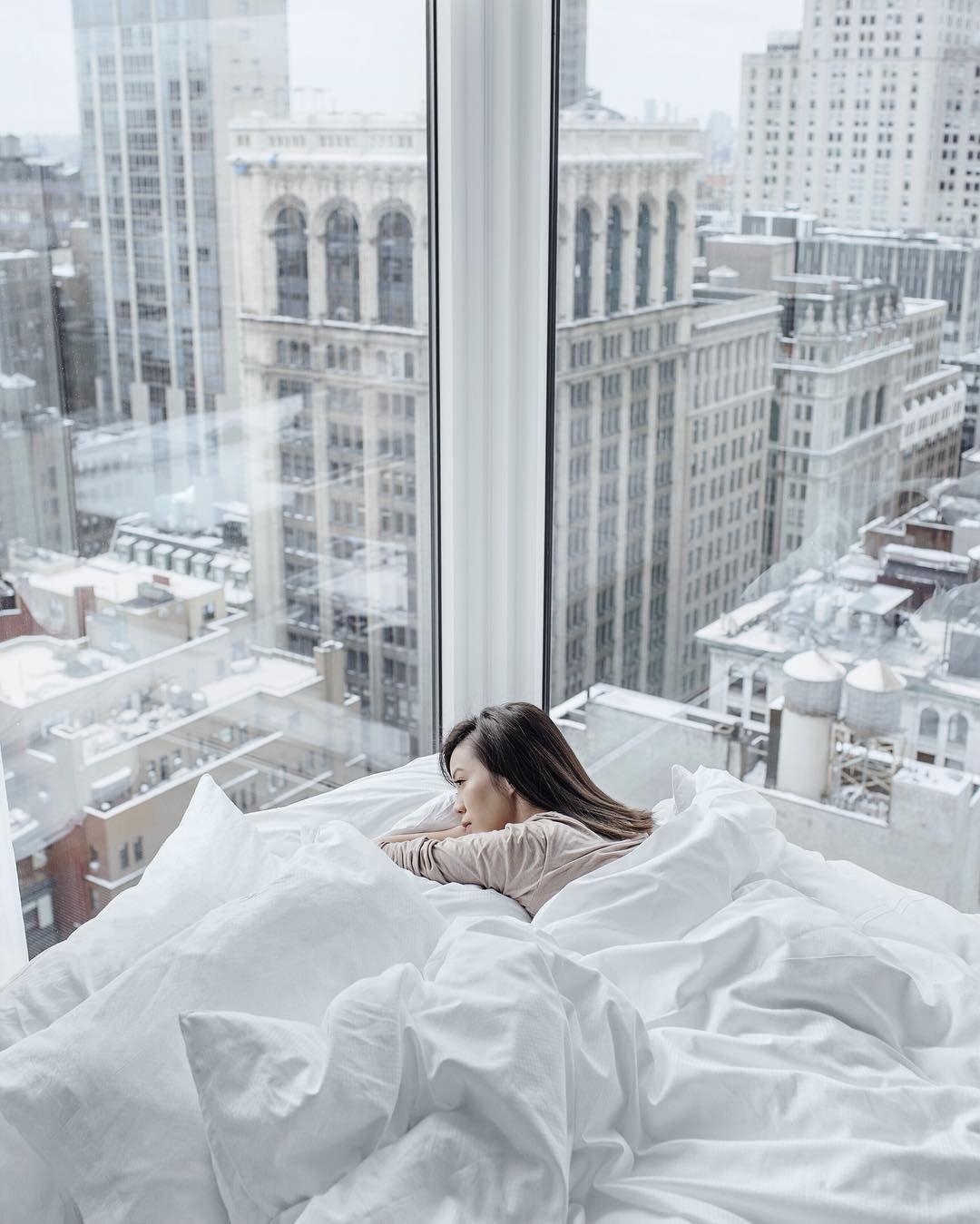 Waking up at Arlo NoMad hotel in NYC Jenny Tsang