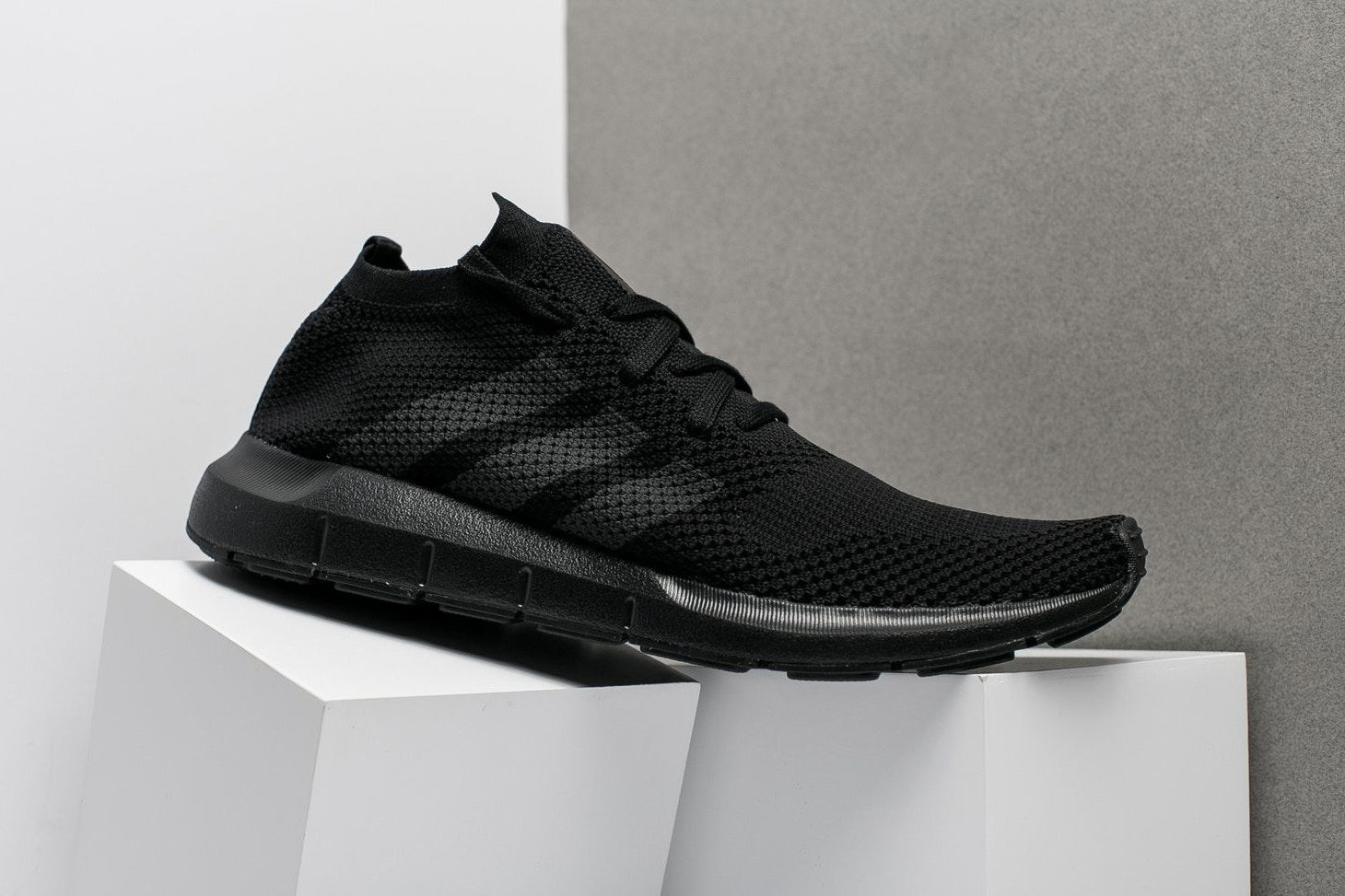 huge discount 78422 f41c8 adidas Swift Run Primeknit Triple Black 2017 December 6 Release Date Info Sneakers  Shoes Footwear Oneness