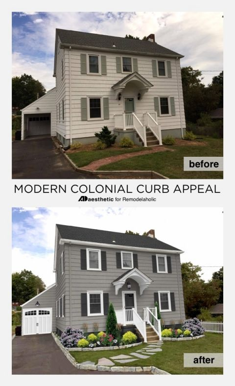 A Modern Colonial Curb Eal Update Can Be As Simple Just