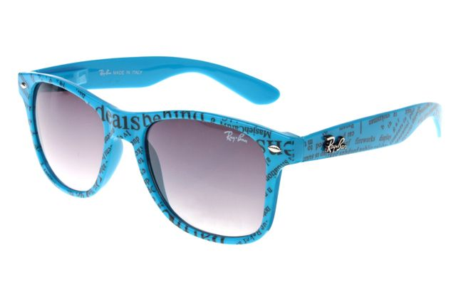 e3f907d31f6 Ray Ban Wayfarer RB2132 Sunglasses Blue Pattern Frame