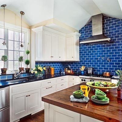 1000+ images about Kitchen backsplash ideas on Pinterest   Tile, Kitchen  backsplash and Bathroom - Blue Subway Tile Kitchen Backsplash Roselawnlutheran