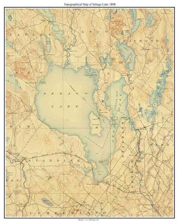 Old Maine Map.Old Maps Of Sebago Lake Maine Lake Home Pinterest Maine Map