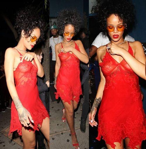 Reserve Rihanna see through dress
