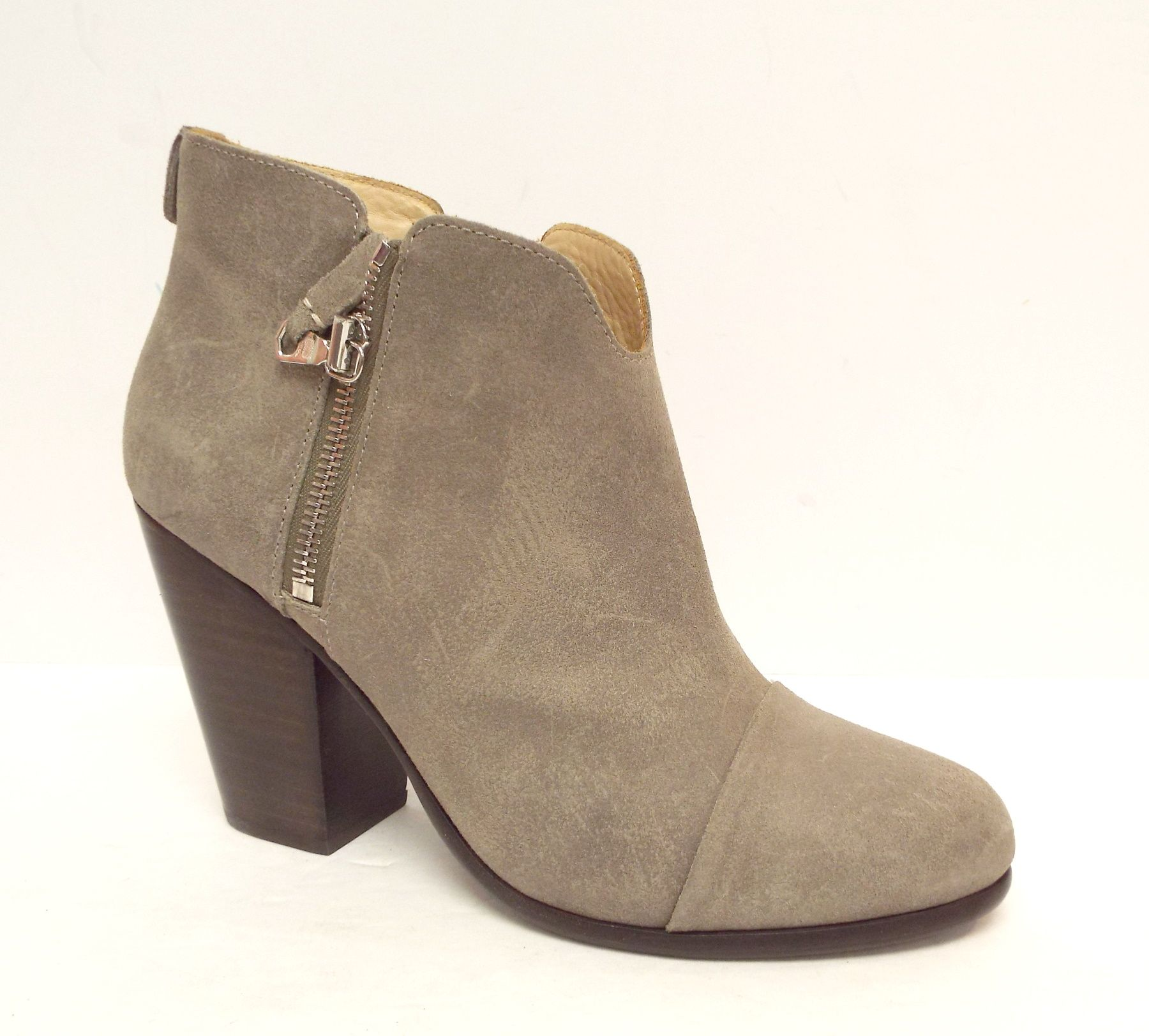 RAG & BONE MARGOT Stone Taupe Suede Ankle Boot 38.5