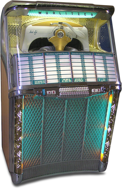 Jukebox London :: Wurlitzer Model 2104 jukebox of 1957 | Vintage
