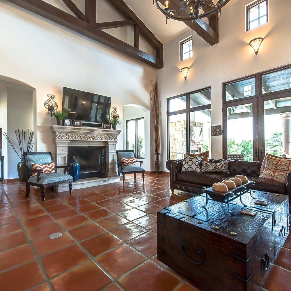 Saltillo Mexican Tile 16 16 Spanish Terracotta Flooring Mexican Paver In 2020 Mexican Tile Floor Saltillo Tile Tile Floor Living Room
